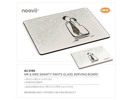 Mr and Mrs Smarty Pants - Glass Serving Board-image