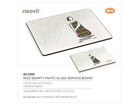 Andy Cartwright Miss Smarty Pants - Glass Serving Board-image
