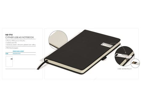 Cypher USB Notebook Gift Set-image