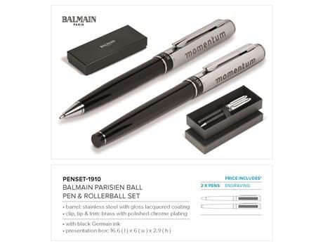 Balmain Parisien Ball Pen & Rollerball Set-image