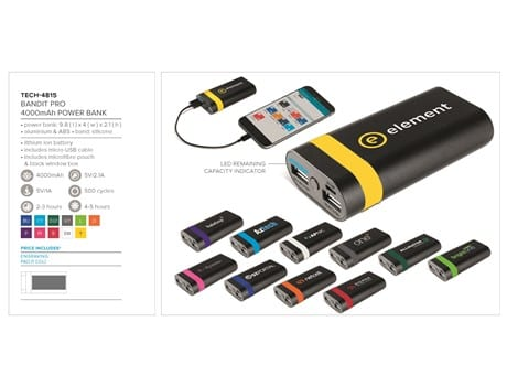 Bandit Pro 4000mAh Power Bank-image