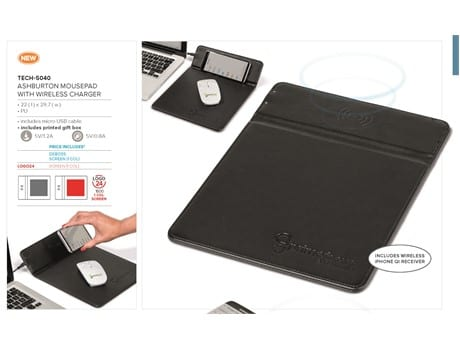 Ashburton Mousepad With Wireless Charger-image