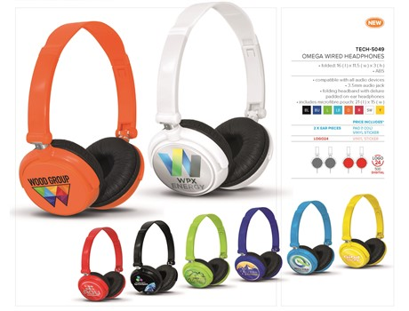 Omega Wired Headphones-image