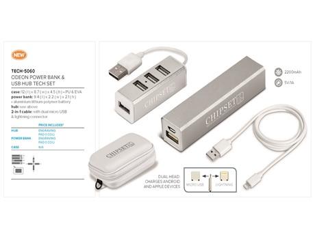 Odeon Power Bank and USB Hub Tech Set-image