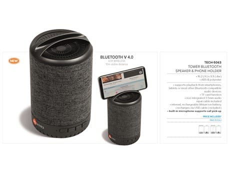 Tower Bluetooth Speaker Phone Holder-image